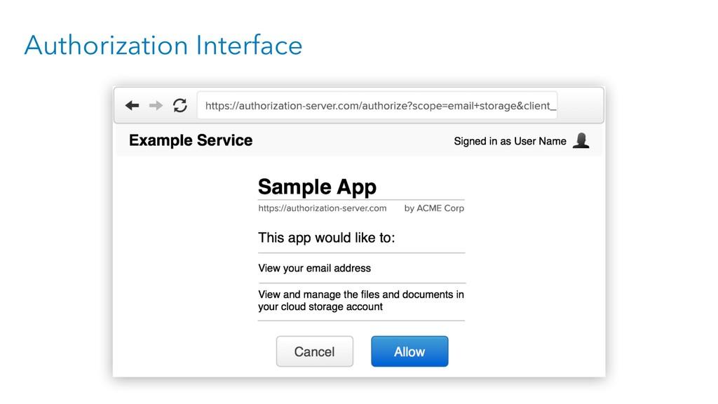 Authorization Interface