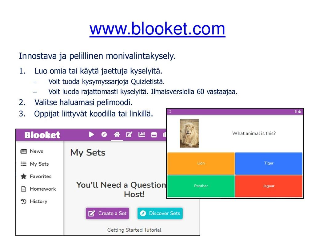 www.blooket.com Innostava ja pelillinen monival...