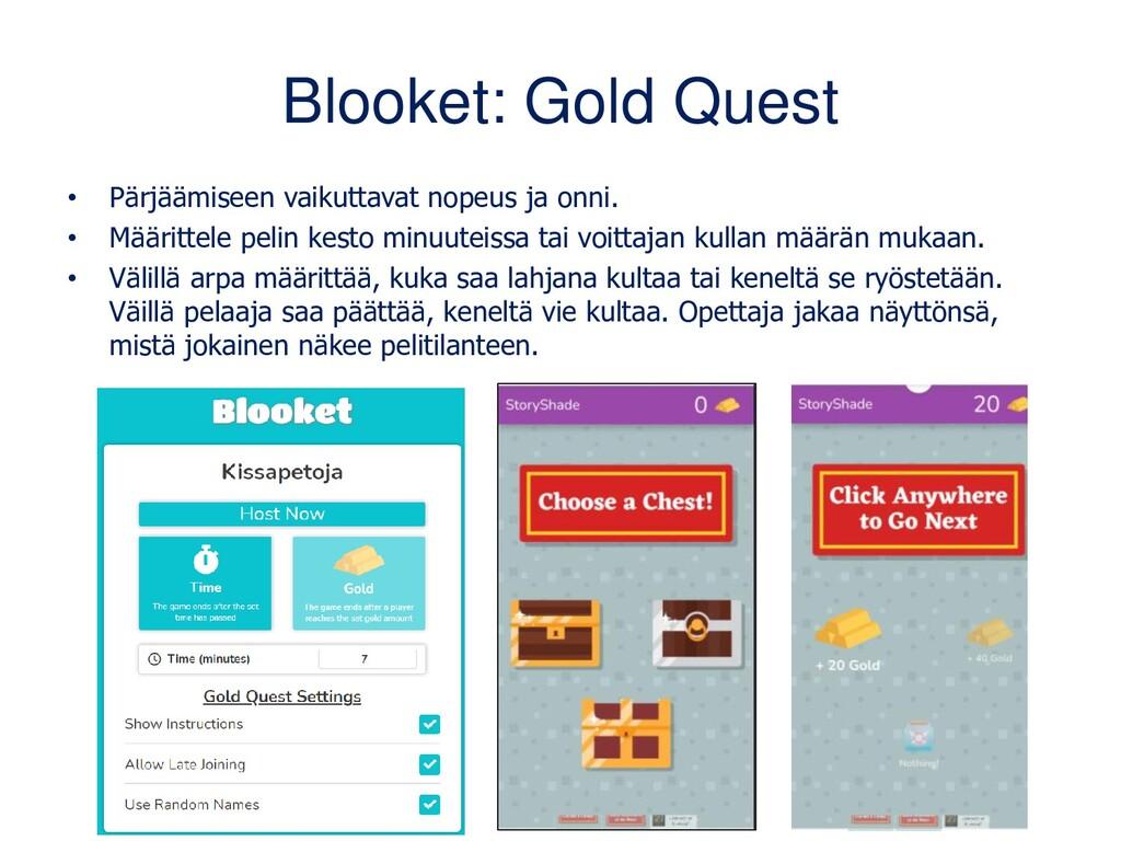 Blooket: Gold Quest • Pärjäämiseen vaikuttavat ...