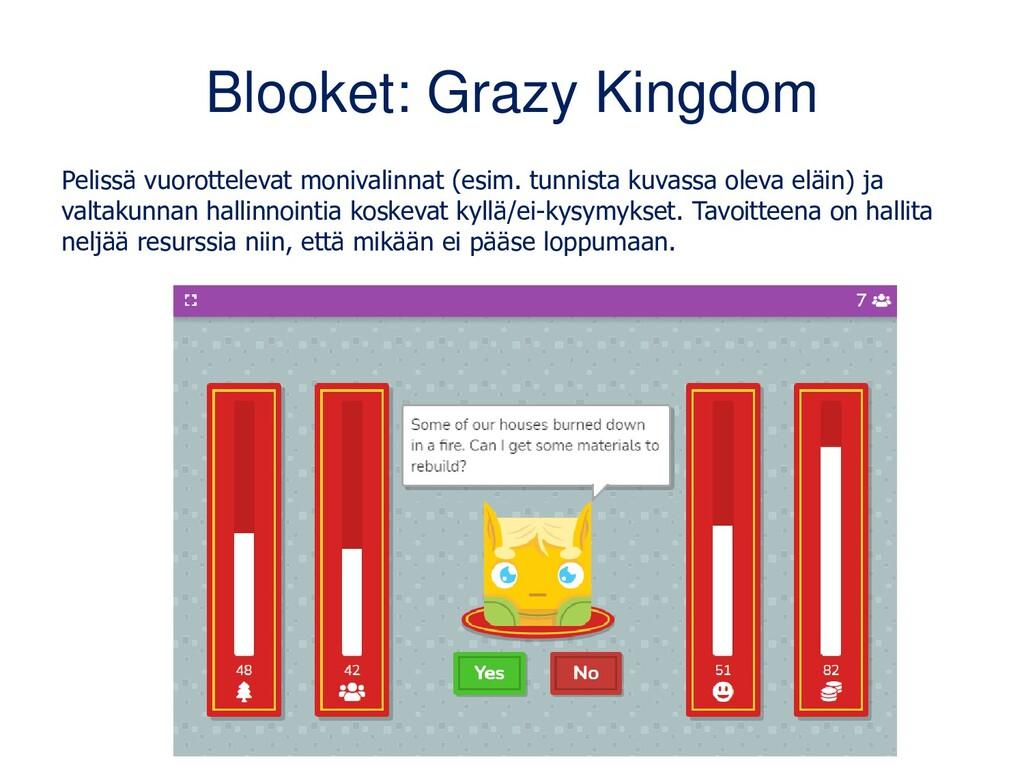 Blooket: Grazy Kingdom Pelissä vuorottelevat mo...