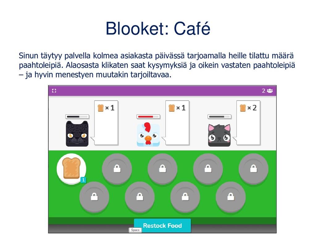 Blooket: Café Sinun täytyy palvella kolmea asia...