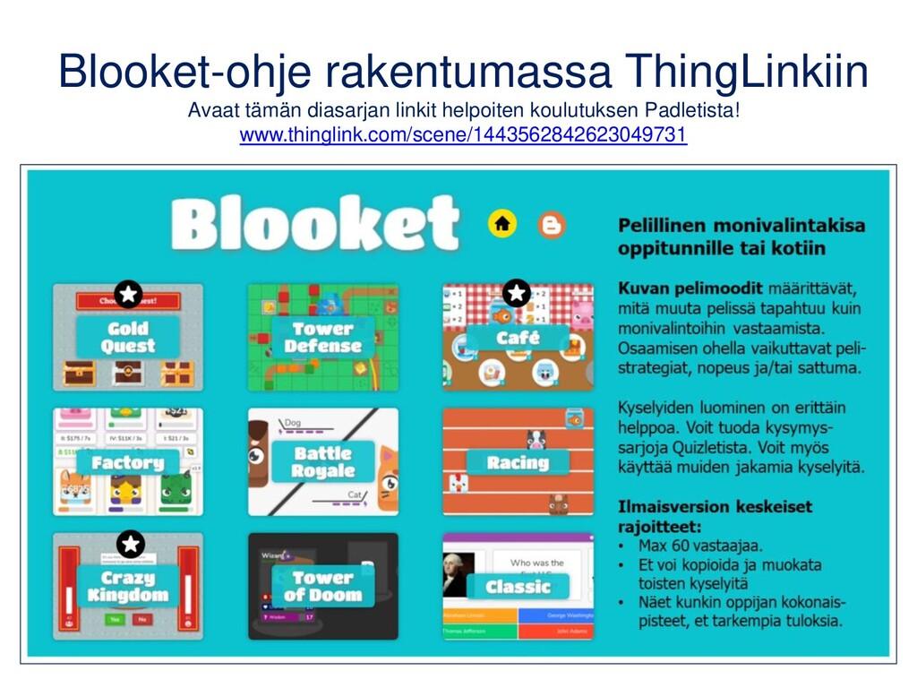 Blooket-ohje rakentumassa ThingLinkiin Avaat tä...