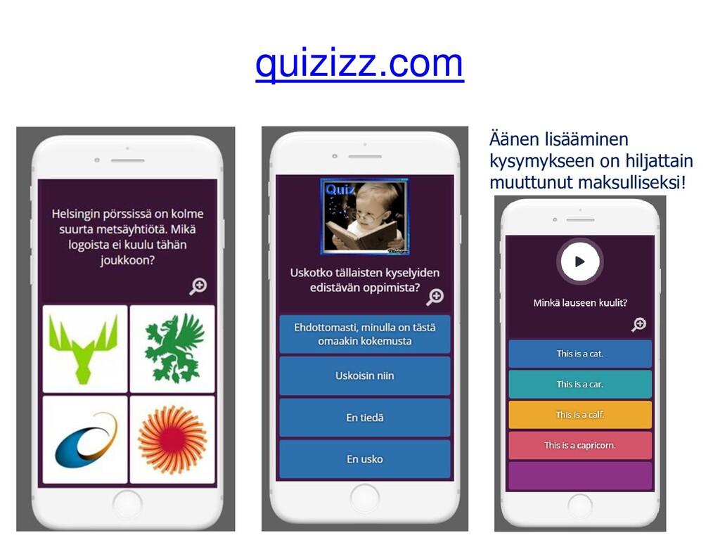 quizizz.com Äänen lisääminen kysymykseen on hil...
