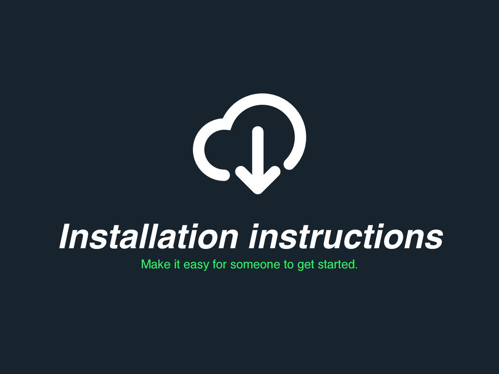 Installation instructions Make it easy for some...