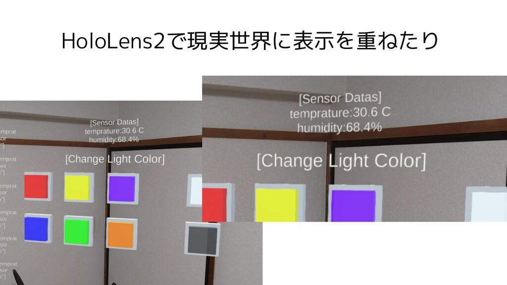 HoloLens2で現実世界に表示を重ねたり
