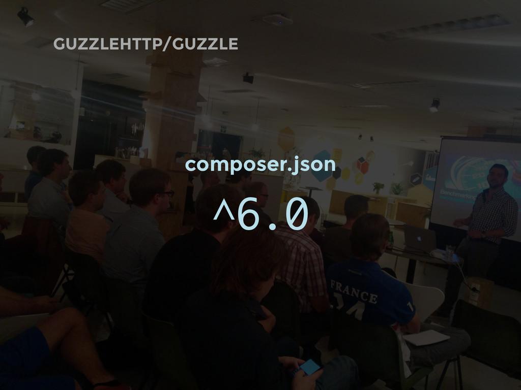 GUZZLEHTTP/GUZZLE composer.json ^6.0