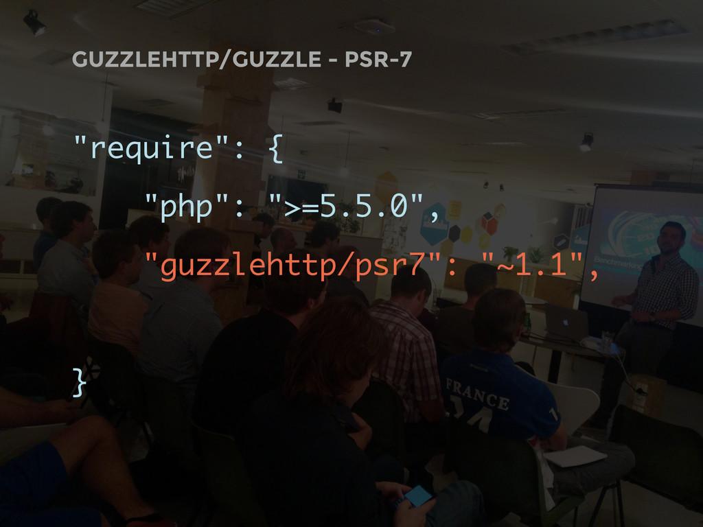 "GUZZLEHTTP/GUZZLE - PSR-7 ""require"": { ""php"": ""..."