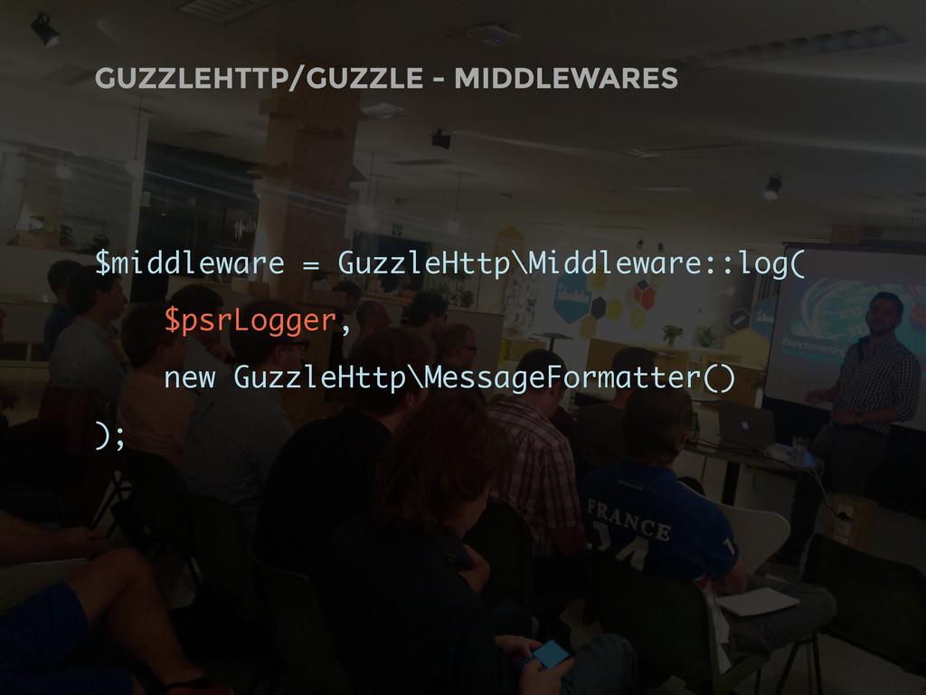 GUZZLEHTTP/GUZZLE - MIDDLEWARES $middleware = G...