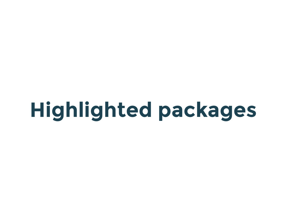 Highlighted packages