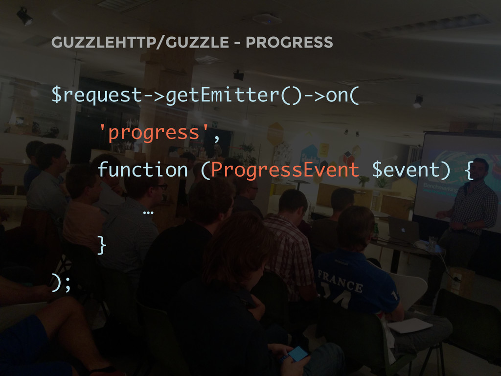 GUZZLEHTTP/GUZZLE - PROGRESS $request->getEmitt...