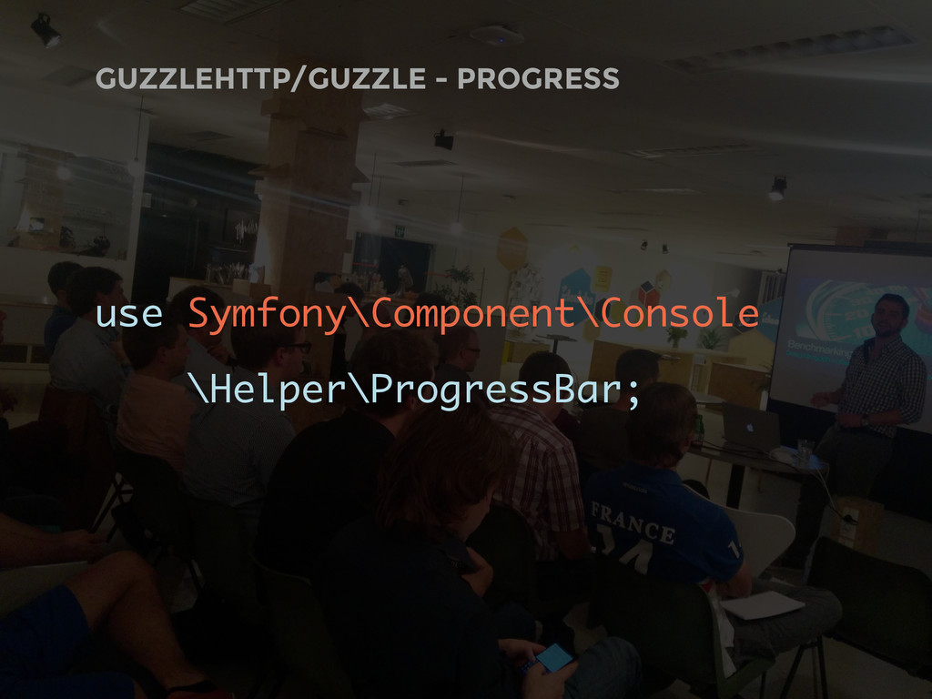 GUZZLEHTTP/GUZZLE - PROGRESS use Symfony\Compon...