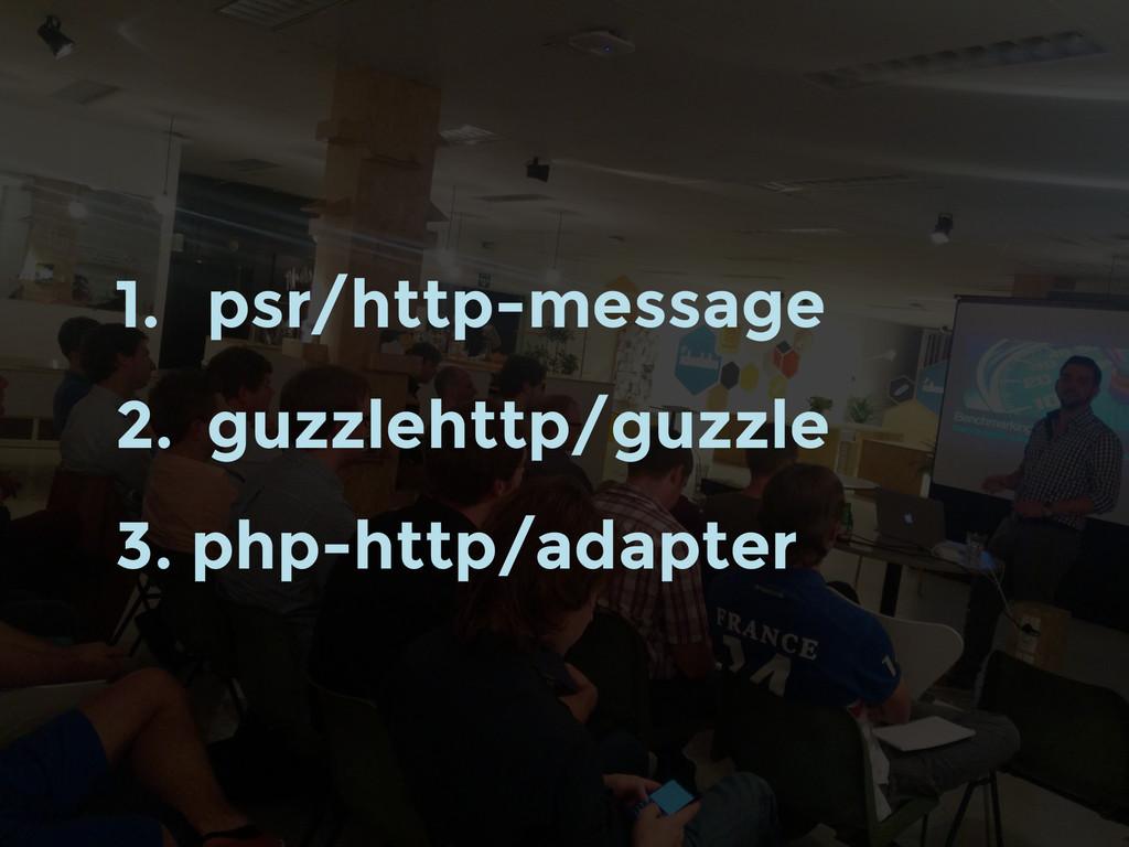 1. psr/http-message 2. guzzlehttp/guzzle 3. php...