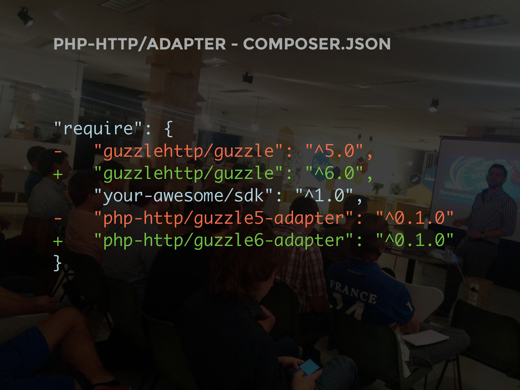"""PHP-HTTP/ADAPTER - COMPOSER.JSON """"require"""": { -..."""