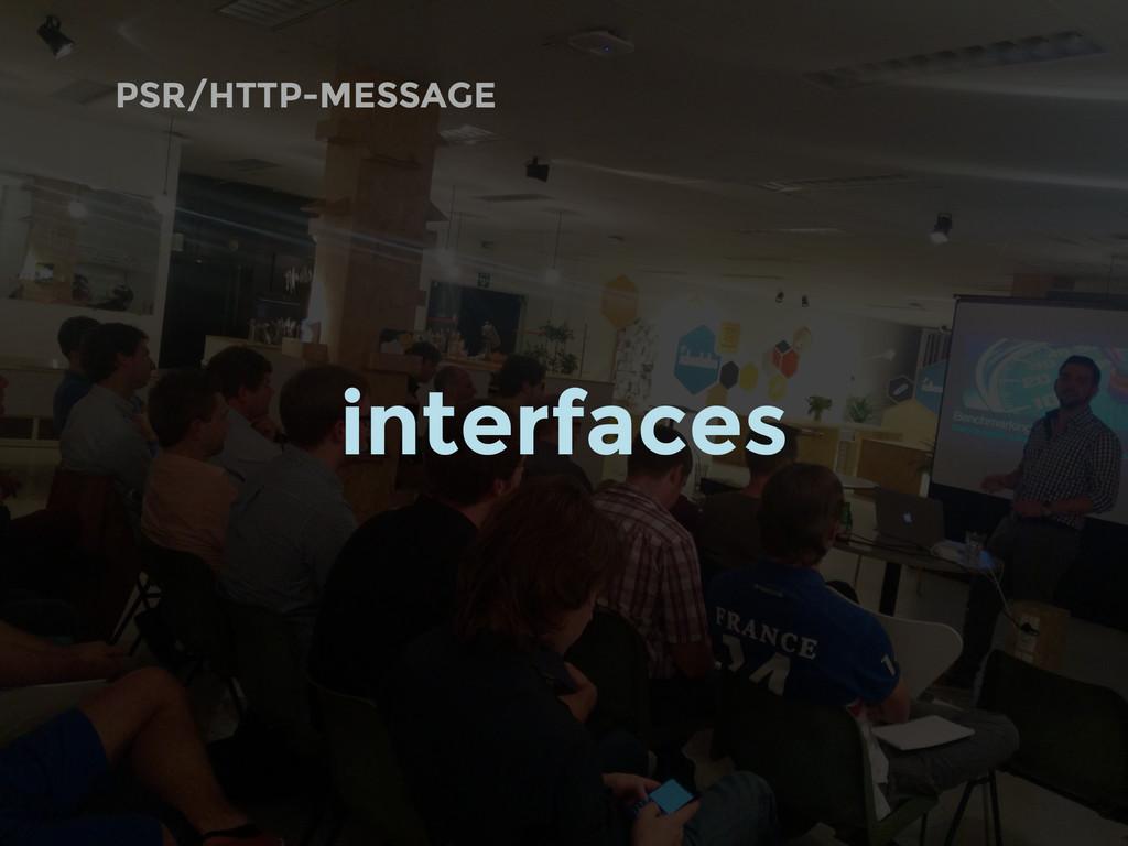 PSR/HTTP-MESSAGE interfaces