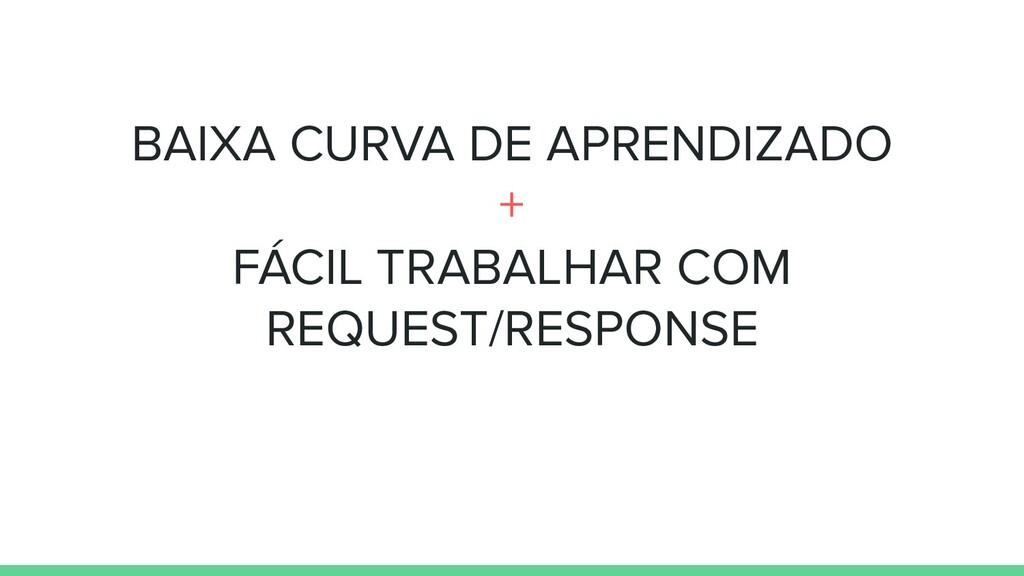 BAIXA CURVA DE APRENDIZADO + FÁCIL TRABALHAR CO...