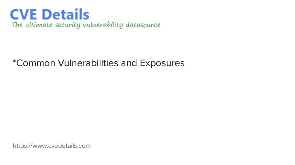 https://www.cvedetails.com *Common Vulnerabilit...