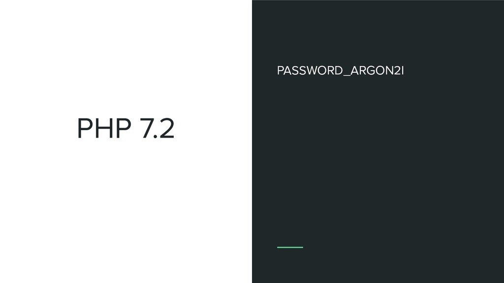 PHP 7.2 PASSWORD_ARGON2I