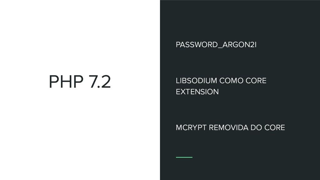 PHP 7.2 PASSWORD_ARGON2I LIBSODIUM COMO CORE EX...
