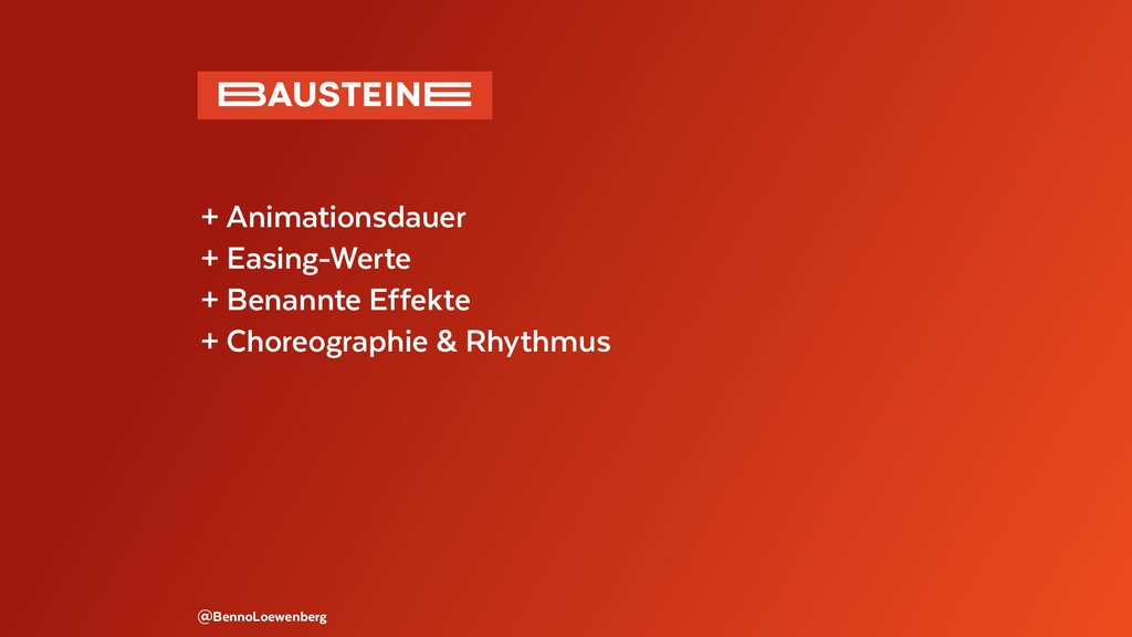@BennoLoewenberg + Animationsdauer + Easing-Wer...
