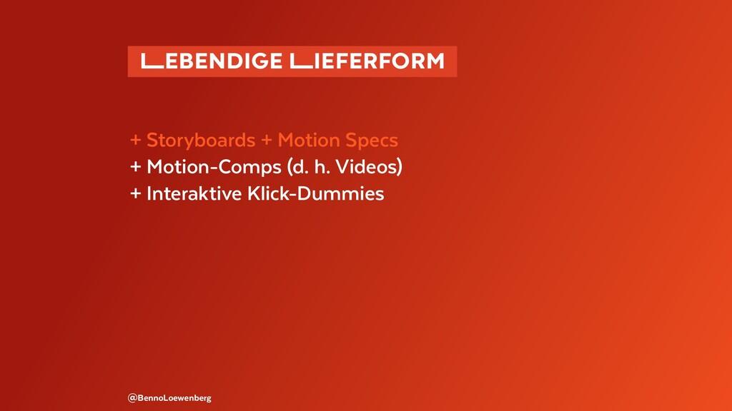 �EBENDIGE �IEFERFORM + Storyboards + Motion ...
