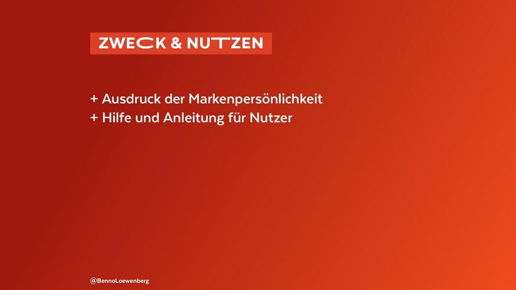 @BennoLoewenberg + Ausdruck der Markenpersönlic...
