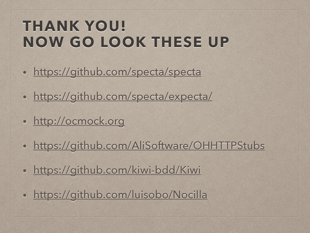 THANK YOU! NOW GO LOOK THESE UP • https://githu...