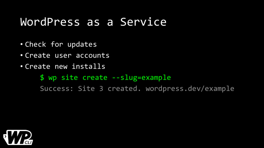 WordPress as a Service • Check for updates • Cr...