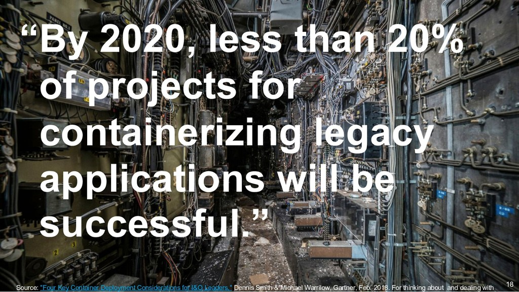 """""""By 2020, less than 20% of projects for contain..."""