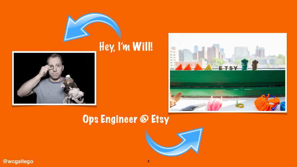 2 Hey, I'm Will! Ops Engineer @ Etsy @wcgallego