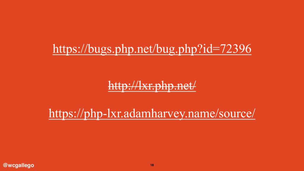 18 https://bugs.php.net/bug.php?id=72396 @wcgal...