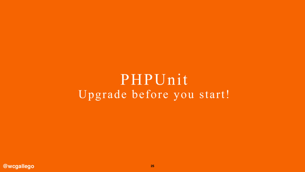 25 PHPUnit