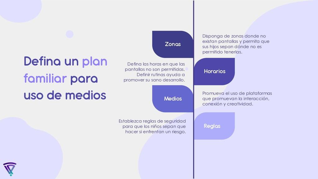 Defina un plan familiar para uso de medios Estab...