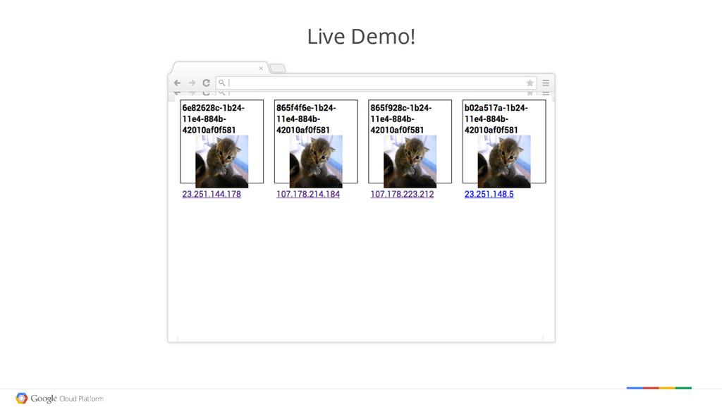 Google confidential │ Do not distribute Live De...