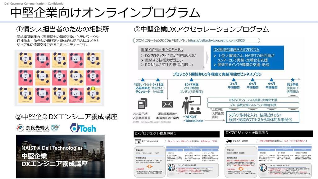 Dell Customer Communication - Confidential 中堅企業...