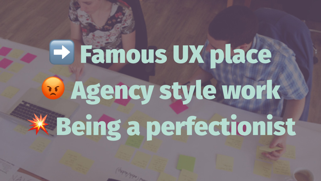 ➡ Famous UX place ! Agency style work ! Being a...