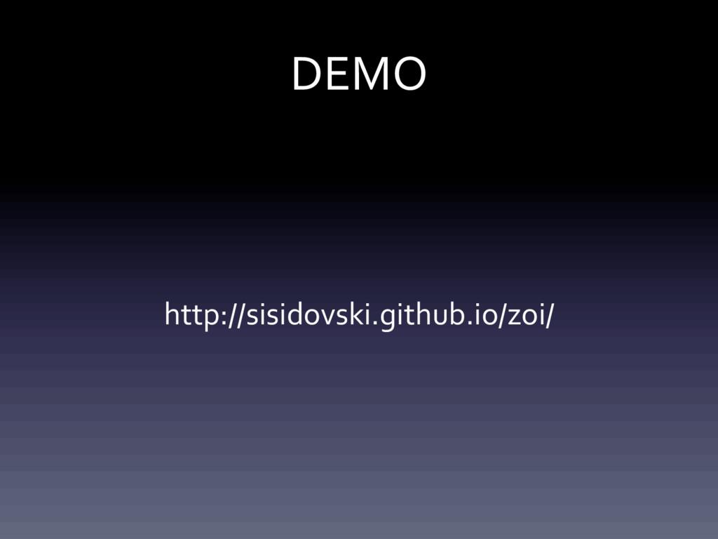 DEMO http://sisidovski.github.io/zoi/