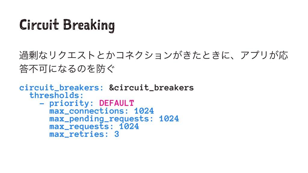 Circuit Breaking աͳϦΫΤετͱ͔ίωΫγϣϯ͕͖ͨͱ͖ʹɺΞϓϦ͕Ԡ ...