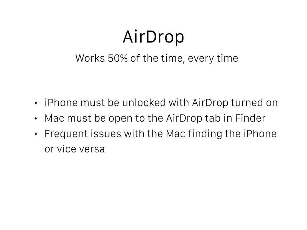 AirDrop Works 50% of the time, every time • iPh...