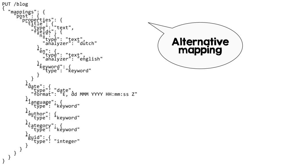 "PUT /blog { ""mappings"": { ""post"": { ""propert..."