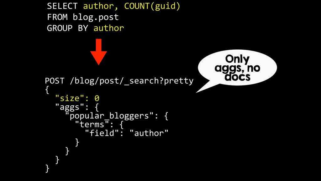 SELECT author, COUNT(guid) FROM blog.post GROUP...
