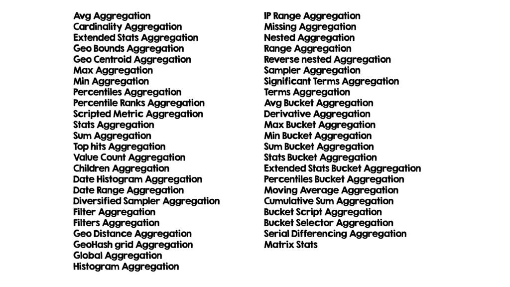 Avg Aggregation Cardinality Aggregation Extende...