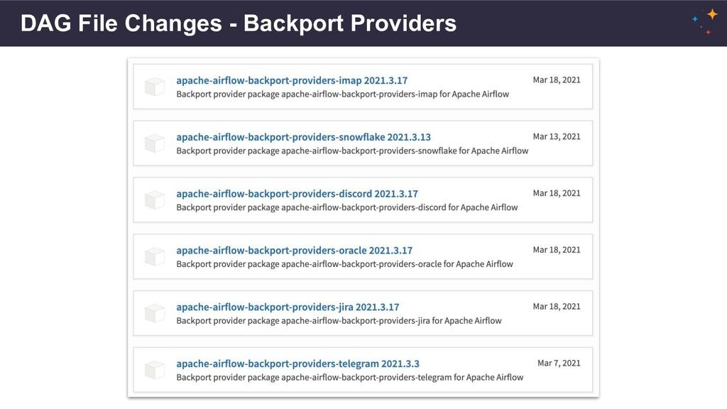 DAG File Changes - Backport Providers
