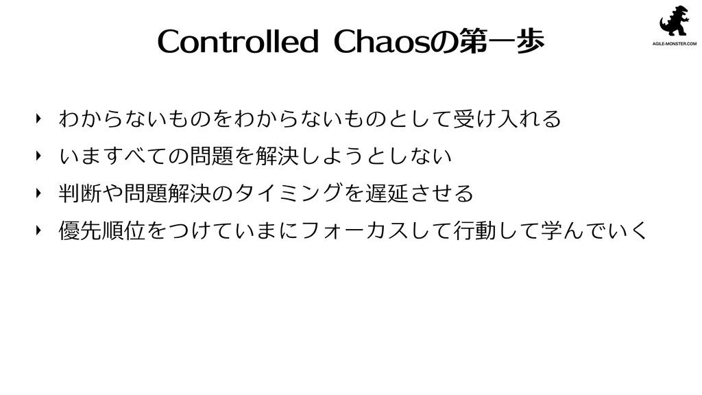 Controlled Chaosの第一歩 わからないものをわからないものとして受け入れる いま...