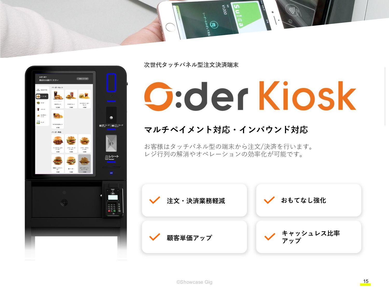 15 ©Showcase Gig 店内モバイル・テーブルオーダー® POS連携 食べ飲み放題 ...