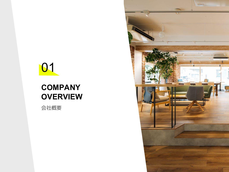 COMPANY OVERVIEW 01 会社概要