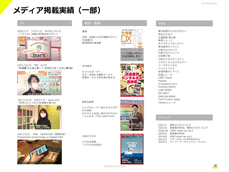 "38 ©Showcase Gig 「店舗デジタル化の""今""を伝える」をテーマに、 飲食・小売店..."
