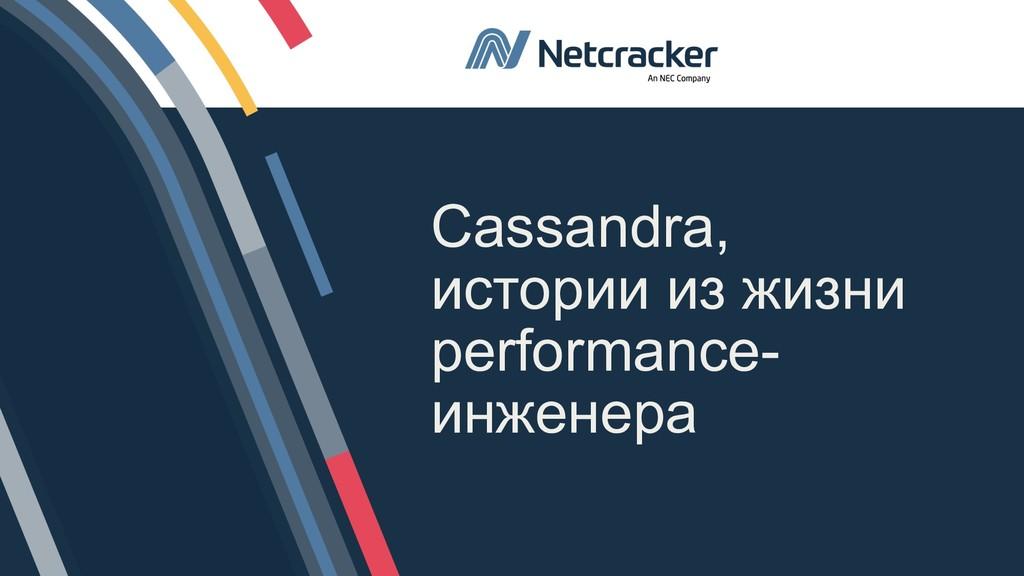 1 © 2019 NetCracker Technology Corporation. Cas...