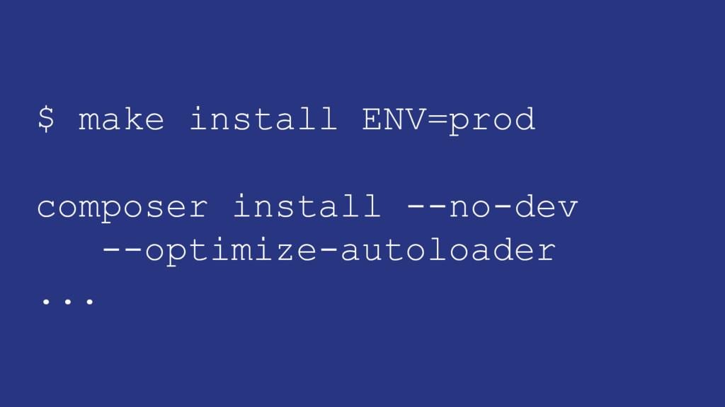 $ make install ENV=prod composer install --no-d...