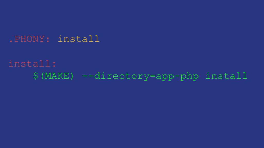 .PHONY: install install: $(MAKE) --directory=ap...