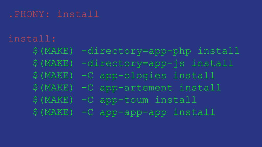 .PHONY: install install: $(MAKE) -directory=app...